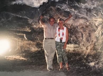 At the lava tunnel
