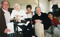 With Jim's Aunt Lillian and Cousins Nancy Labenki and the other Jim Gray
